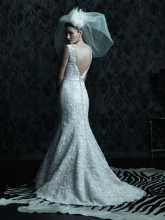 Allure Bridals : Couture Collection : Style C226 : Available colours : White/Silver, Ivory/Silver, Ivory/Pearl/Silver (back)