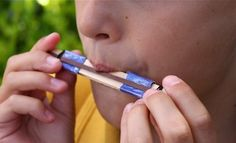 How cool is this? Make your own harmonica.