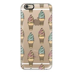 iPhone 6 Plus/6/5/5s/5c Case - Soft Serve Ice Cream Cones ($40) ❤ liked on Polyvore featuring accessories, tech accessories, iphone case, slim iphone case, iphone cases, iphone cover case and apple iphone cases