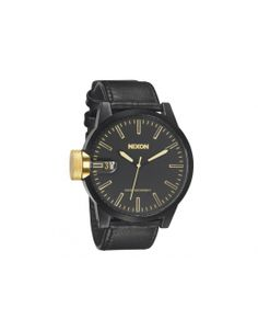 a7d6ec71235a0 Buy Chronicle Watch - Matte Black Gold by Nixon from our Accessories range  - Blacks