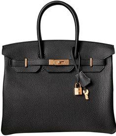 98be326ea9cf Hermès Birkin 35 Rose Gold Hardware Black Togo Calfskin Leather Tote -  Tradesy Hermes Birkin,