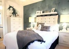 David Wilson Homes - Leicester. Wow, a classy equestrian lovers dream bedroom -. David Wilson Homes – Leicester. Wow, a classy equestrian lovers dream bedroom – suitable for a Teenage Bedroom Ideas Ikea, Teenage Girl Bedrooms, Teen Bedroom, Girls Horse Bedrooms, Teen Rooms, Childrens Bedroom, Girl Rooms, Bedroom Modern, Horse Themed Bedrooms