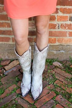 Cowboy Boots. Perfect for a wedding! Old Gringo Erin Bone Boots at RiverTrail in North Carolina.