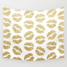 Gold Glitter Lips<br/> <br/> gold, glitter, lips pattern, lips...