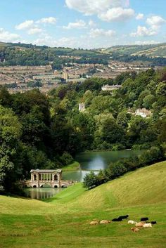 """Bath, England  The ancient Roman Baths and the ruins are lovely but I was enthralled by the """"quality of the light""""-some say that it's as clear and vibrant as the light in the south of France.  The painter in me loved this place."""