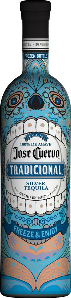 José Cuervo Tequilla - Special Halloween edition - Placid Blue Color.