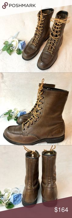 6df93249d35 Red Wing Upland Hunting Field 8 Combat Boots Beautiful RED WING boots Combat  style Lace up