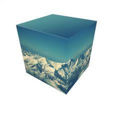 Горы на гранях куба