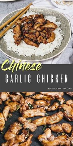1 reviews · 25 minutes · Gluten free · Serves 2 · This better-than-takeout Chinese Garlic Chicken makes a perfect weeknight dinner as it's really easy to make and is ready in under 30 minutes. The whole family will love this Asian inspired dish! #Chinese #Asian #takeout #chicken Chinese Garlic Chicken, Quick Chicken Curry, Cheesy Chicken Pasta, Healthy Chicken Dinner, Seared Salmon Recipes, Roasted Potato Recipes, Pork Recipes, Asian Recipes, Asian Foods