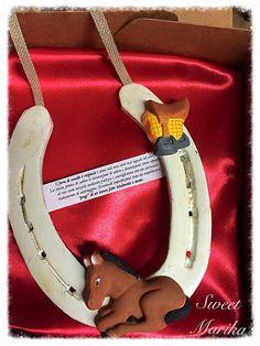 ferro di cavallo originale con gessi di SweetMarika su Etsy