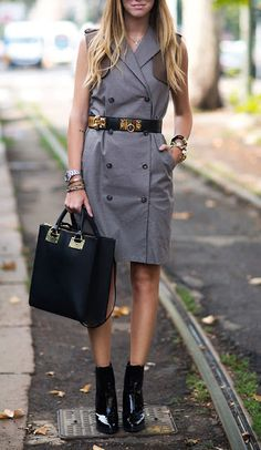 Street Style Inspirations Of The Week - Military Chic