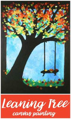 Social Artworking | Leaning Tree Canvas Painting