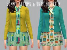 #Sims4 #S4Women | Un bichobolita | Sunny Autumn dress and cardigan