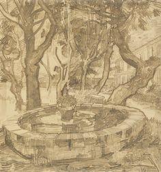 Fountain in the Garden of the Asylum, 1889, Vincent van Gogh, Van Gogh Museum…