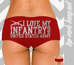 I Love My Infantry Man  United States Army  Women's by TapRackBang, $15.99