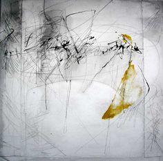 Maroufflé sur toile, Kitty Sabatier, calligraphic art