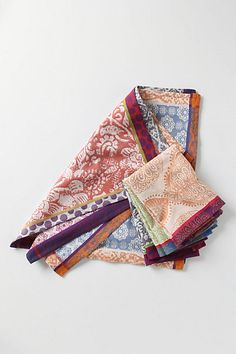 Nifty Napkins by Anthropologie - set of six cotton jacquard cloths