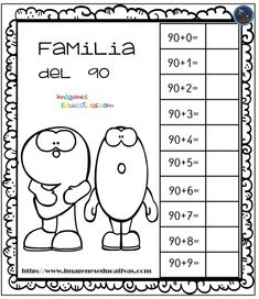 Aprendemos la familia de los números - Imagenes Educativas Summer School, I School, Math Worksheets, Math Activities, Math 4 Kids, Preschool Painting, Simple Math, Spanish Language Learning, Math Workshop