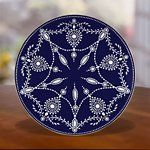 I want to mix and Match some of my fav patterns!  Marchesa Empire Pearl Indigo Accent Plate by Lenox  # 826268A    Crafted of white bone china accented with hand-enameled white beading and platinum lace motif  Dishwasher safe  Made in the USA  $55.00