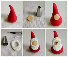 Mini Weihnachtsmann Tutorial Mini Weihnachtsmann Tutorial The post Mini Weihnachtsmann Tutorial appeared first on Salzteig Rezepte. Christmas Cake Designs, Christmas Cake Topper, Christmas Cake Decorations, Christmas Cupcakes, Cake Topper Tutorial, Fondant Tutorial, Polymer Clay Christmas, Polymer Clay Crafts, Christmas Baking
