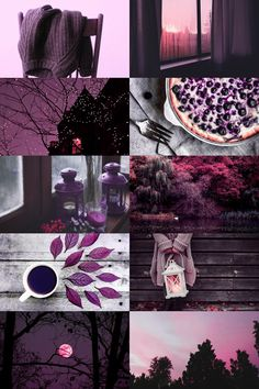 purple autumn aesthetic