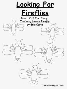 The Very Lonely Firefly Crafts  Poem postercoloring page