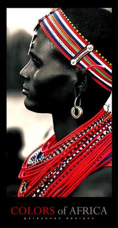 Africa | Portrait of a Masai. By Morgueprincess on Deviantart ~ but unfortunately the link no longer works.