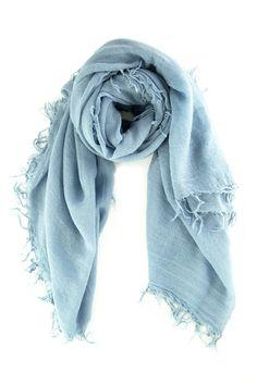 Dusty Blue Cashmere and Silk Scarf - Chan Luu