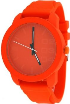 MN #2047-6 Men's Fashion Accessory Silicone Wrapped Orange Domination Watch: Watches: Amazon.com