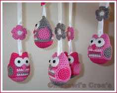 Owls, flowers, and yarn - oh my!