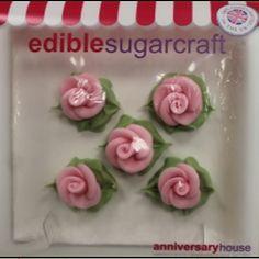 Décors en sucre roses