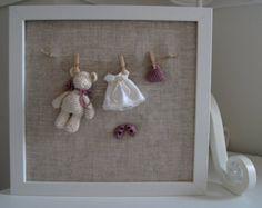 Crochet Little Bear Frame by maricatimonsina on Etsy