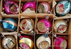 mom's old ornaments - these kind shatter really badly :P