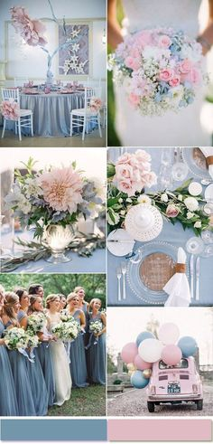 Rose Quartz and Serenity Wedding Color Inspiration