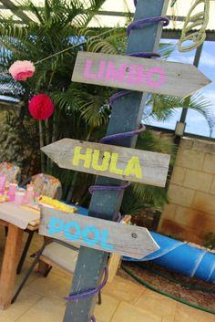 Hawaiian Luau Birthday Party Ideas   Photo 15 of 35   Catch My Party