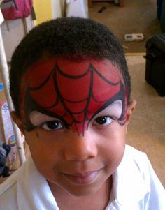 Spiderman Face Paint