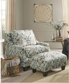 Franklin Furniture   Addison 2 Piece Accent Chair U0026 Matching Ottoman Set    2170 2SET