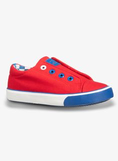 BOYS CANVAS WHITE BLUE LACE UP TRAINERS CASUAL PUMPS SHOES TRAINERS UK SIZE 10-3