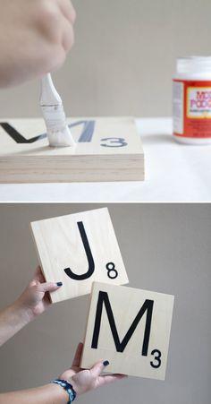 52 Ideas For Giant Board Games Diy Scrabble Letters Giant Scrabble Tiles, Scrabble Letters, Diy Letters, Wall Art Crafts, Wood Crafts, Diy And Crafts, Cardboard Crafts, Board Game Themes, Board Games