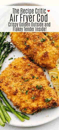 Cod Filet Recipes, Cod Recipes, Fish Recipes, Cooking Recipes, Air Fryer Cod Recipe, Air Fry Fish Recipe, Air Fryer Dinner Recipes, Air Fryer Recipes Easy, Air Fried Fish
