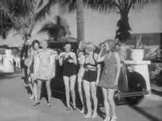 Swimsuit edition: 1936 Fashions Modeled by Miami Bathing Beauties 1936 Chevrolet Newsreel: http://youtu.be/8FFdQ1oXLDE #fashion #Miami #history