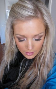 hair color and makeup! totally recreating the eyes with the mark. on the dot pallet in neutral