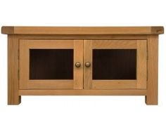 Oakton standard glazed TV cabinet - The Oakton Collection is one of the most diverse available today, meaning that you can find the perfect item, whatever the style or size of your home. Beautifully crafted and finished with a subtle nod towards the rustic styling, with chunky tops and metal handles for a distinct look, this range is undeniably stylish with a robust nature that will find itself complimenting your home for many years to come.