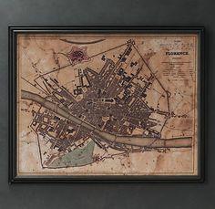 Florence Map (c. 1835), Restoration Hardware