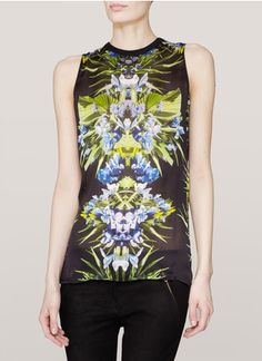 Givenchy Orchid-print tank top