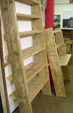 scaffold board leaning desk and unit by woodrecycling, via Flickr