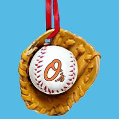 Baltimore Orioles Ball and Glove Christmas Ornament >>> You can get additional details at the image link.