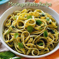 Moringa Pesto with Whole Wheat Pasta Recipe- omit parm to veganize Salsa Pesto, Pesto Sauce, Pesto Pasta, Malunggay Recipe, Tomato Mozzarella Caprese, Wheat Pasta Recipes, Whole Wheat Pasta, Paleo, Sauce Recipes