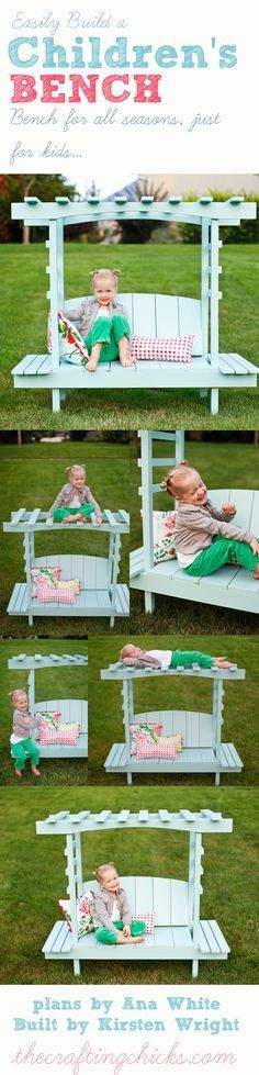 DIY easy build a children's Arbor Bench [ Barndoorhardware.com ] #backyard #hardware #slidingdoor