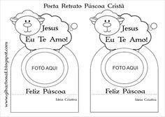 porta retrato páscoa Cristã